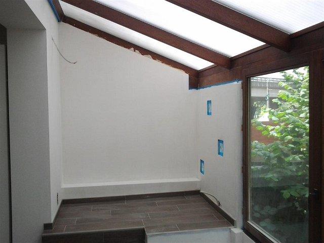 Plafonnage rizutto enduit facade skap mortex hainaut for Plafonnage mur exterieur